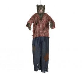 Colgante Hombre Lobo con luz y sonido de 150 cm