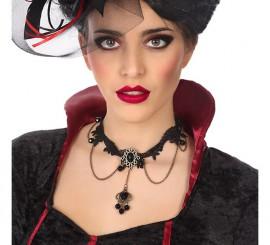 Collar Negro gótico 40 cm