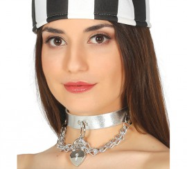 Collar Punk Plateado