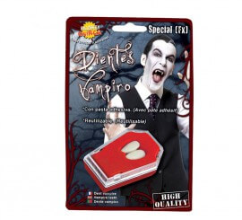 Colmillos de Vampiro con pasta adhesiva