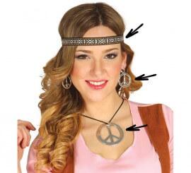 Conjunto Hippie de pendientes, collar y cinta