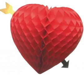 Corazón con flecha para colgar 34 cm