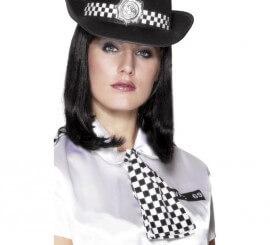 Corbata de policía con cuello elástico para mujer