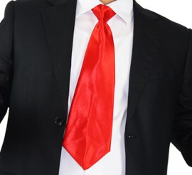 Corbata Roja de 50 cm para adultos