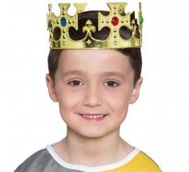 Corona de Plástico de Rey Dorada