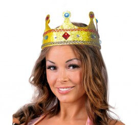 Corona de Reina de color oro