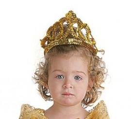 Corona o Tiara de Princesa color Oro infantil