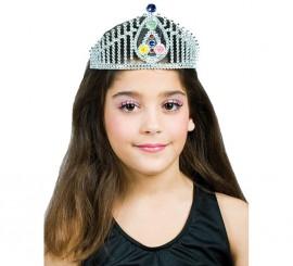 Corona Plateada con piedras preciosas