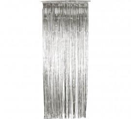 Cortina Brillante Plateada metálica 91x244 cm