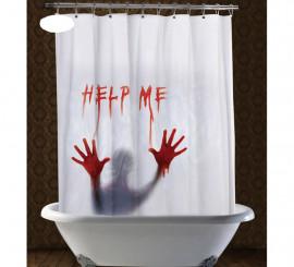 Cortina de ducha Help Me de 152x180 cm