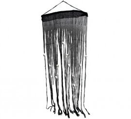 Cortina negra con Calaveras 70 x 180 cm