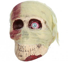 Cráneo vendado con un ojo 19 cm