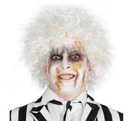 Peluca Fantasma Crazy blanca