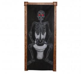 Cubre-Puertas de Esqueleto con luz y sonido de 185X75 cm