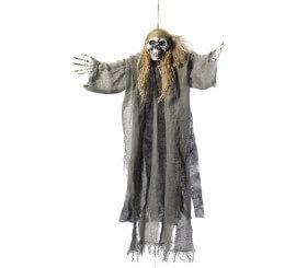 Colgante Esqueleto de pirata Gris 70x90 cm