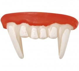 Dentadura de Vampiro con Pegamento