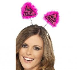 Diadema con Antenas Precaución Hen Party (Fiesta de Despedida)
