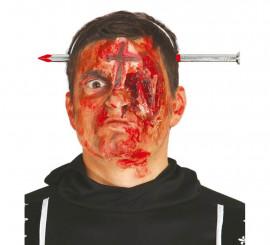 Diadema con clavo atravesando cabeza para Halloween