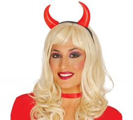 Diadema cuernos Demonio para Halloween