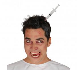 Diadema con jeringuilla de Zombie