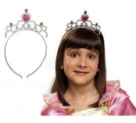 Diadema o Tiara plata de Princesa