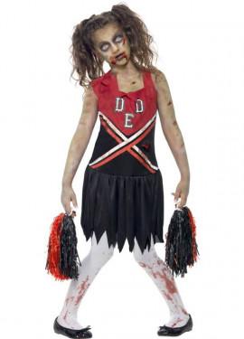 Disfraz Animadora Zombie para Niña