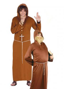 Disfraz barato de Fraile o Monje de hombre