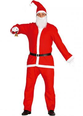 Disfraz barato de Papa Noel adulto para Navidad