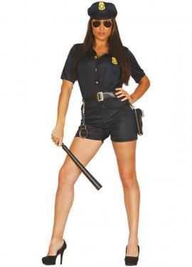 Disfraz barato de Policía mujer