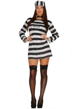 Disfraz barato de Presidiaria Sexy para mujer