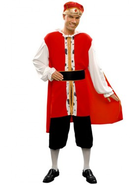 Disfraz barato de Rey Medieval para hombre talla M-L