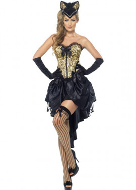 Disfraz Burlesque Gatita para Mujer
