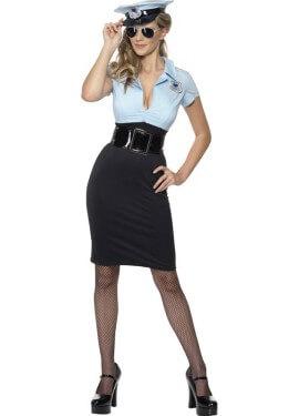 Costume da cadetto della polizia sexy per una donna