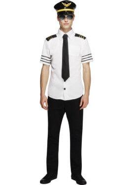 Disfraz Capitán de Avión Comercial Sexy para Hombre