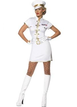 Disfraz Capitán de Marina Sexy Blanco para Mujer