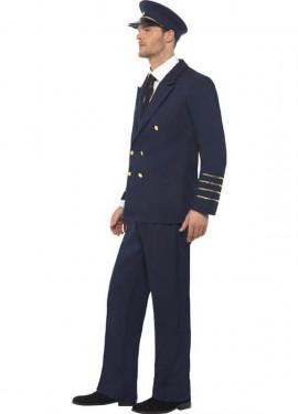 Disfraz Capitán de Vuelo Comercial para Hombre