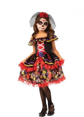 Costume da Catrina elegante per bambina