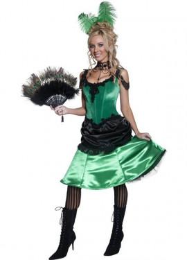 Déguisement Saloon - Cabaret vert et noir pour Femme plusieurs tailles