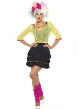 Disfraz Chica Pop de los Años 80 para Mujer