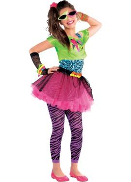 Disfraz chica Pop de los años 80 para niñas y adolescentes