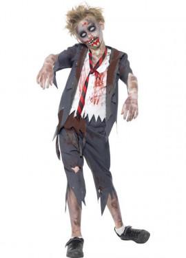 Disfraz Colegial Zombie para Niño