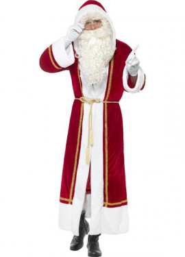 Disfraz de Abrigo de Papá Noel para hombre