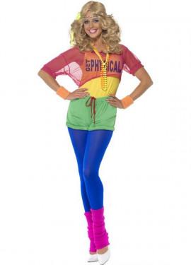 Disfraz de Aerobic de los Años 80 para Mujer ... 00d938b9fa1a0