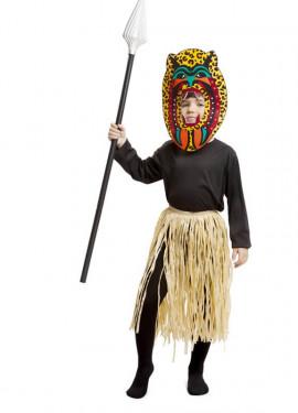 Disfraz de Africano Zulú para niño