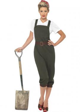 Disfraz de Agricultora Años 40 para mujer