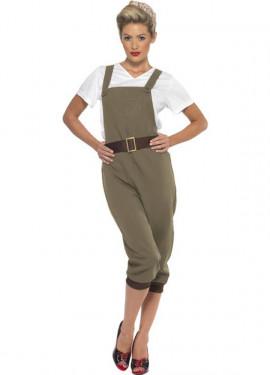 Disfraz de Agricultora de los Años 40 para mujer