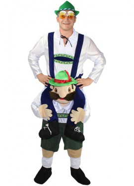 Disfraz de Alemán Oktoberfest a hombros para adultos