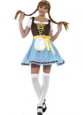 Costume tradizionale blu e marrone tedesco per una donna