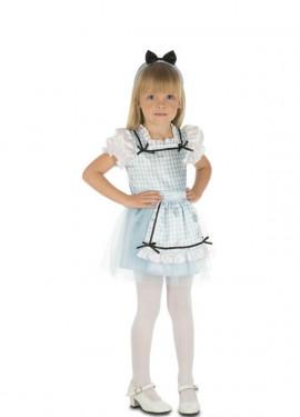 Costume da Alice con fiocco per bambina