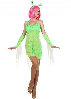 Déguisement Alien Sexy verte pour Femme plusieurs tailles